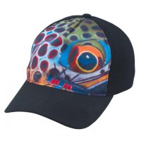 Flexfit Trucker Brown Trout Black S/M Simms