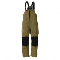 F3 Gale Rainsuit Bibs Charcoal Grey & Brown M Frabill