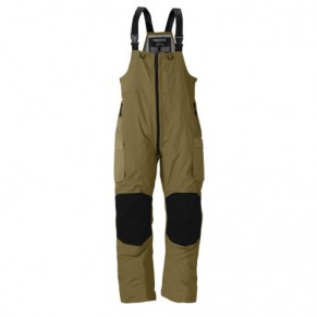 F3 Gale Rainsuit Bibs Charcoal Grey & Brown S Frabill - Фото