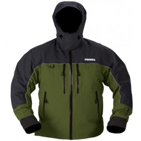 F4 Cyclone Rainsuit Jacket Green/Grey L куртка всесезонная Frabill - Фото