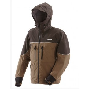 F3 Gale Rainsuit Jacket Charcoal Grey & Brown L Frabill - Фото