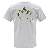 T-Shirt Trout Camo SS Ash Grey XL, Simms