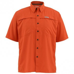 Ebbtibe Lightweight Shirt Fury Orange L рубашка Simms - Фото