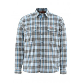 Coldweather Shirt Tidal Blue Plaid M Simms - Фото