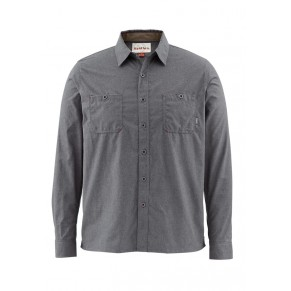 Black's Ford Flannel Solid Nightfall M рубашка Simms - Фото