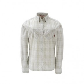 Women's Big Sky Shirt Grey Plaid M рубашка Simms - Фото
