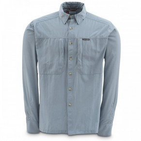 BugStopper NFZ Shirt Tidal Blue Mini Plaid L рубашка Simms - Фото