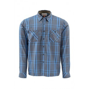 Black's Ford Flannel Shirt Nightfall Plaid L Simms - Фото