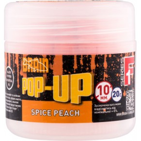 Pop-Up F1 Spice Peach 10mm 20gr бойлы Brain - Фото