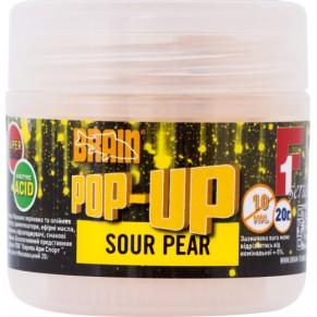 Pop-Up F1 Sour Pear 10mm 20gr бойлы Brain - Фото