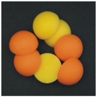 Half Boilie Mixed Orange & Yellow 15mm New Enterprise Tackle