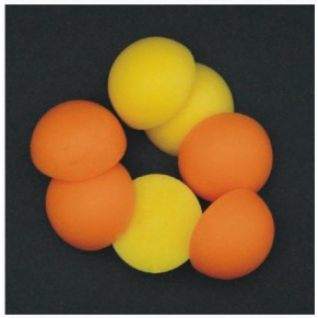 Half Boilie Mixed Orange & Yellow 15mm New Enterprise Tackle - Фото
