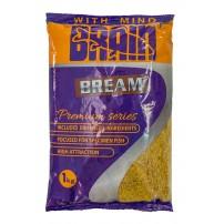 Premium Bream 1kg жёлтая прикормка Brain