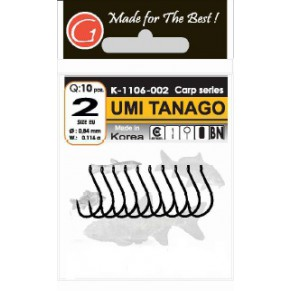 Umi Tanago-Ring BN #2 10шт крючки Gurza - Фото