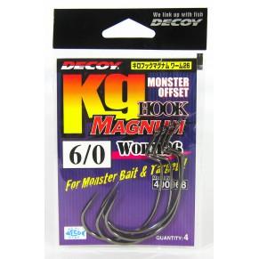 Worm 26 Kg Hook Magnum 10/0, 2 шт крючок Decoy - Фото