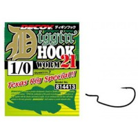 Worm 21 Digging Hook 3/0, 6шт крючок Decoy
