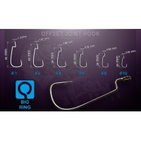 OJH-2 Offset Joint Hook Crazy Fish