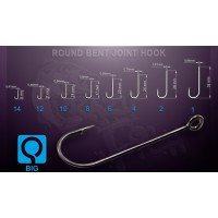 RBJH-2 Round Bent Joint Hook 10шт одинарный крючок Crazy Fish