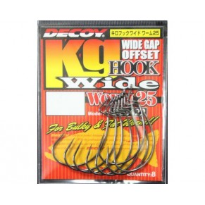 Worm 25 Hook Wide 1/0, 8 шт крючок Decoy - Фото