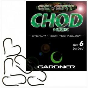 Covert Chod Hooks Barbed 4 10шт крючок Gardner - Фото