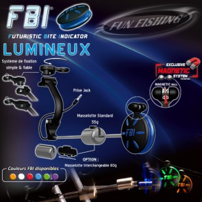 Illuminated FBI White Fun Fishing - Фото