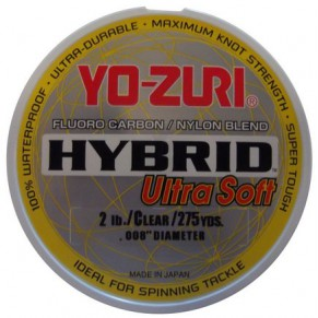 Hybrid Ultra Soft Fishing Line  275 Yards 0.8мм, YoZuri - Фото