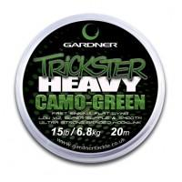 Trickster Heavy Camo Green 15lb (6.8kg) поводочный материал Gardner