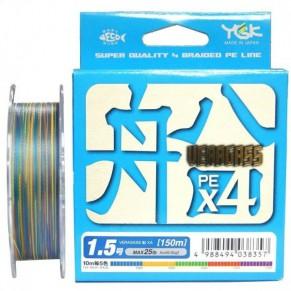 Veragass PE x4 150m #1.0/18lb шнур плетеный YGK - Фото