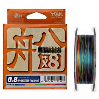 Veragass PE x8 150m #0.8/max 16lb шнур плетеный YGK