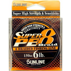 Super PE 8 Braid 150m 0.280mm 30Lb/15kg Sunline - Фото