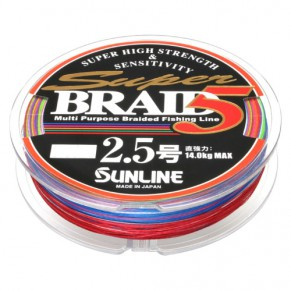Super Braid 5 150m #2.5/0.25mm 14kg Sunline - Фото