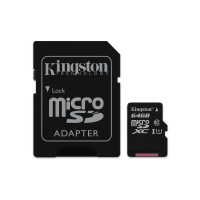 MicroSDXC 64GB Class 10 UHS-I + SD Kingston