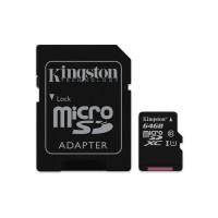 MicroSDXC 64GB Class 10 UHS-I + SD Kingston