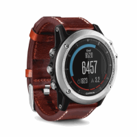 Fenix 3 Sapphire Performer Bundle Silver with Leather Band, Garmin