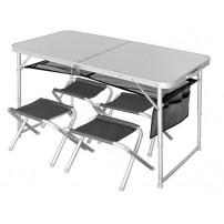 Runn 120x60х54/70+4 табурета стол складной Norfin