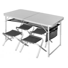 Runn 120x60х54/70+4 табурета стол складной Norfin - Фото