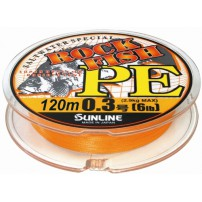 Rock Fish PE 120м #0.3/0.09мм 6LB/2.9кг шнур Sunline
