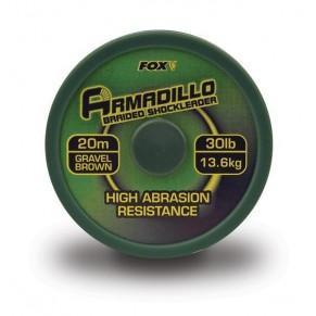 Armadillo brown 30lb шок лидер Fox - Фото