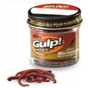 Силикон Berkley GMEW-RDW GULP! Mini Earthworms 2.5cm Червь красный - Фото