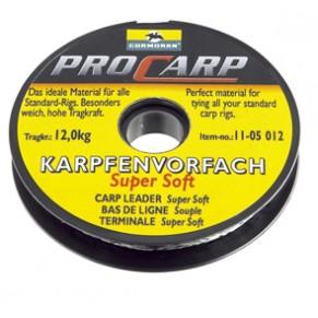 Super Soft Carp leader 15kg. поводковый материал Cormoran - Фото