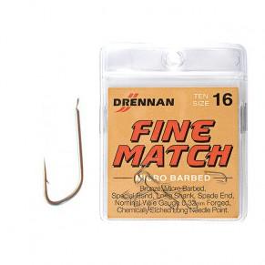 Hooks Carbon Fine Match 18 крючки Drennan - Фото