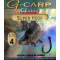 G-Carp Super Black 1sizes 10шт крючок Gamakatsu