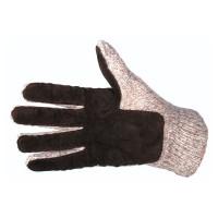 Перчатки шерст., подшитые кожей, с прокладкой