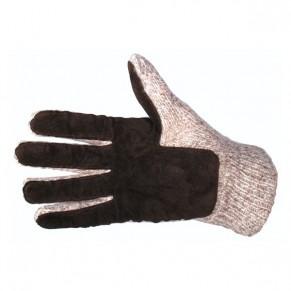 Перчатки шерст., подшитые кожей, с прокладкой - Фото