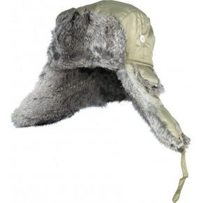 302764-L шапка-ушанка на нат. меху зелёная Norfin - Фото