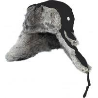 302766-L шапка-ушанка на нат. меху чёрная N...