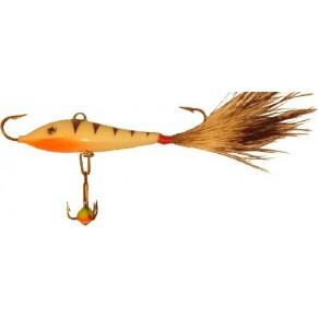 Soft Tail 2,5 + тр. 25мм/33 с белич.хвостом блесна-балансир Lucky John - Фото