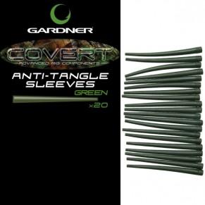 Covert Anti Tangle Sleeves C-Thru Green (20) коническая трубка Gardner - Фото