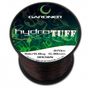 HYDRO-TUFF 12lb 5.4kg Green 0.35mm леска карповая Gardner - Фото