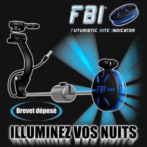 Box of 4 Illuminated FBI (Futuristic Bite Indicator) Red, Orange, Blue, Green Fun Fishing - Фото